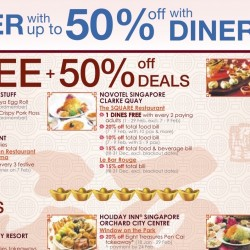 Diners Club: Dine for FREE + 50% OFF Deals