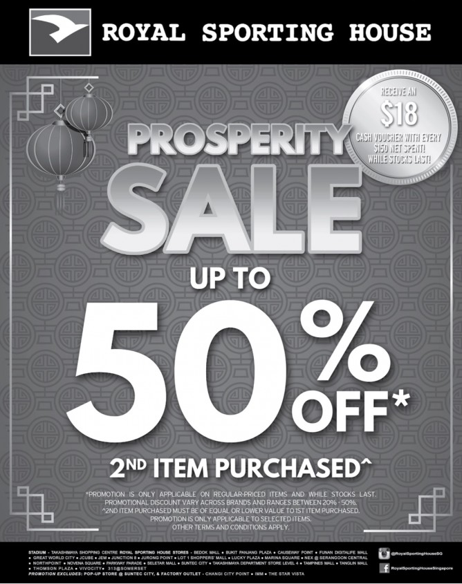 Royal Sporting House: Prosperity Sale Up to 50% OFF