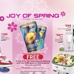 Tefal: Sale up to $100 OFF + Free 2 Cans of Imperial Abalone with $388 Spent
