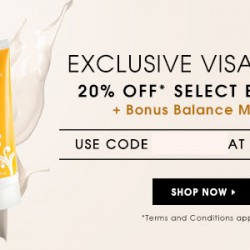 Luxola: 20% OFF Select Brands with Visa + Free Balance Me Hand Cream