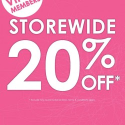 Sasa: 20% OFF Storewide for VIPs & Members