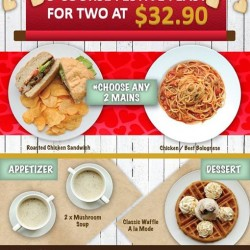 Gelare: Festive Feast for two at $32.90