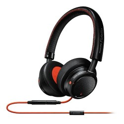 Amazon: Philips M1MKIIBO/27 Fidelio M1 MKII Premium Headphones with In-line control and mic switch between music and calls and stitched fine leather, Black/Orange