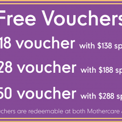 Mothercare: Get Vouchers up to $50