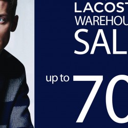Lacoste: Warehouse Sale Up to 70% OFF