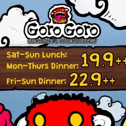 GoroGoro: Steamboat & Korean Buffet Promotion from $9.90++