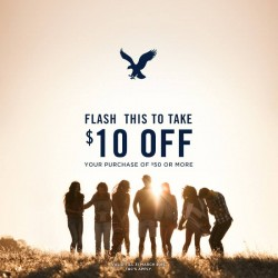 American Eagle Outfitters: $10 OFF with $50 Spend