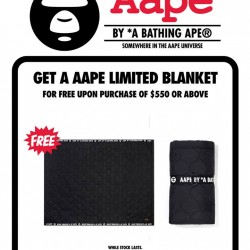 i.t Labels: Free AAPE Limited Blanket with a min Spend of $550 on AAPE Items