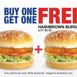 Big Box: Hashbrown Burger - Buy 1 get 1 Free