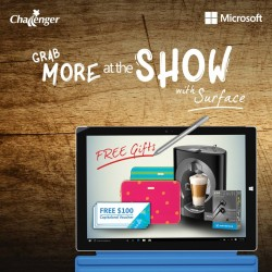 Challenger: MORE freebies with each purchase of Microsoft Surface at Challenger Roadshows