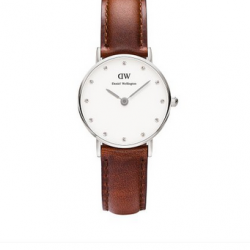 Amazon: Daniel Wellington Women's 0920DW St Mawes Stainless Steel Watch with Brown Leather Band