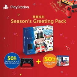 Sony: 50% OFF the PS4 Family Pack and DualShock 4 Jet Black
