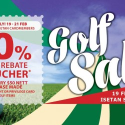 Isetan Scotts: Receive a 10% Golf Rebate Voucher with every $50 nett Purchase for Members