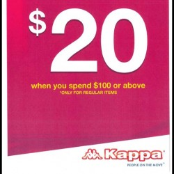 Kappa: $20 Instant Rebate with $100 Spend and Above