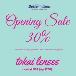 Better Vision: 30% OFF for New Collection of Frames and Sunglasses at Waterway Point