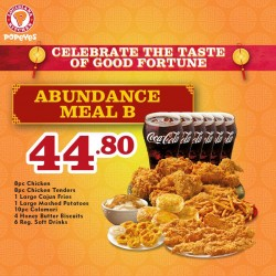 Popeyes: The Abundance Meal @$44.80