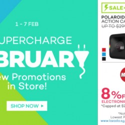 Lazada: Supercharge February + MasterCard Monday