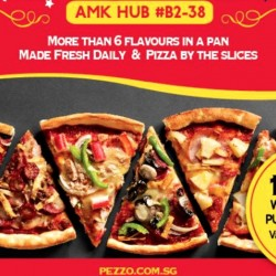 Pezzo Pizza: 1-for-1 at AMK Hub from 2pm to 5pm