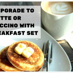 Starbucks: Free Upgrade to Latte or Cappuccino with any Breakfast Set