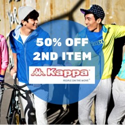 Kappa: 50% OFF 2nd Item Purchase