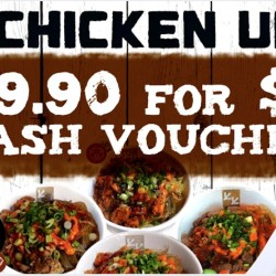 Chicken Up: $29.90 for $50 Cash Voucher at All Outlets