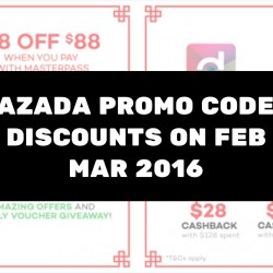 Lazada: Promo Codes & Discounts for Feb & Mar 2016