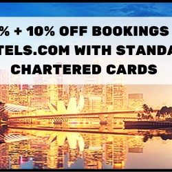 Standard Chartered: 50% OFF Bookings + Additional 10% OFF at Hotels.com