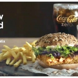McDonald's: NEW Breaded Salmon Burger with Paella Spice Mix