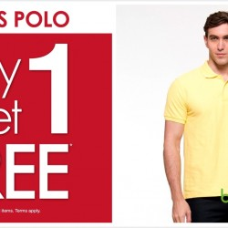 Bossini: Buy 1 Get 1 Free Classic Men's Polo Tee