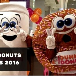 Dunkin' Donuts: 100 Free Donuts at Waterway Point on 27 Feb 2016