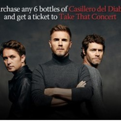 Redmart: Redeem a Take That Concert Ticket with any 6 bottles of wine