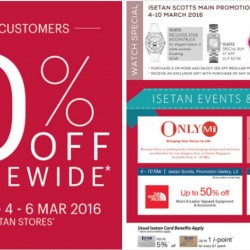 Isetan: 10% OFF Storewide for ALL Customers