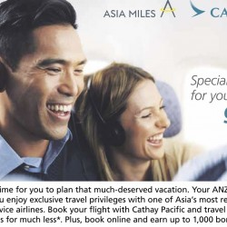 Cathay Pacific: Special All-In Fares for ANZ Credit Cardmembers from $178