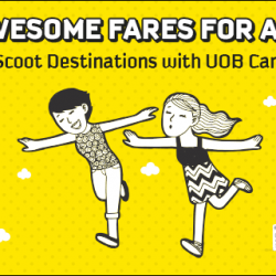 FlyScoot: 30% off selected Economy and ScootBiz seats with UOB Card