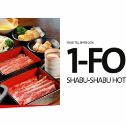 OCBC: 1-for-1 Shabu-Shabu Buffet at Suki-Ya