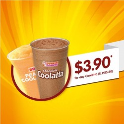 Dunkin' Donuts Singapore: Student School Holidays Promotion --- Coolatta special at S$3.90