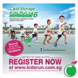 Cold Storage Kids Run Early Bird Promotion