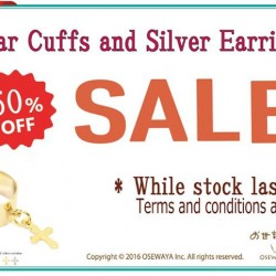 Osewaya: Enjoy 50% OFF Osewaya's Ear Cuffs & Silver Earrings this month!