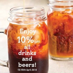 SOM TAM: Drinks and Beers Promotion --- ENJOY 10% off