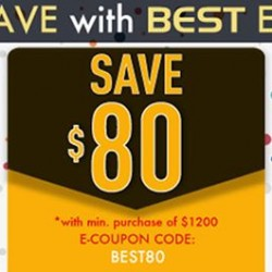 Best Denki: Storewide e-Coupon Code --- SAVE up to S$80