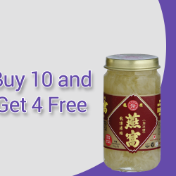 Dragon Brand Bird's Nest: Buy 10 of any Bottled Bird's Nest Products and Get 4 Free