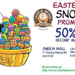 Charlie Brown Cafe: Easter Week Promotion - 2nd Main Course at 50% OFF