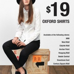 GIORDANO Singapore: women Oxford shirt @ $19 each