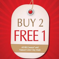 Missha Singapore: BB Creams* and Natural Color Clay Mask Promotion --- Buy 2 Get 1 Free!
