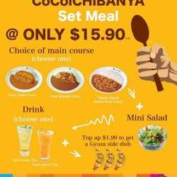 Cocoichibanya Singapore: Set meal at only S$15.9++