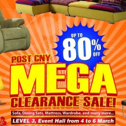 Big Box: EXTENDED Furniture Post CNY Mega Clearance Sale Up to 80% OFF