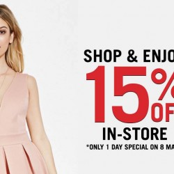 Forever 21: 1 Day Special 15% OFF In-store on 8 March