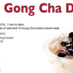 Gong Cha: Free Gong Cha Drink at 10 Outlets Islandwide