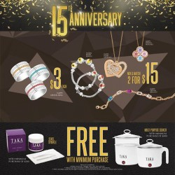 Taka Jewellery: more than 80% discount on fine jewellery anniversary promotion