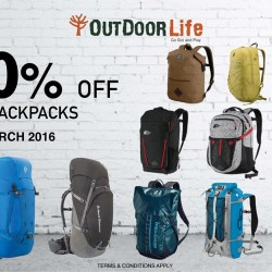 Outdoor Life: 30% OFF All Backpacks